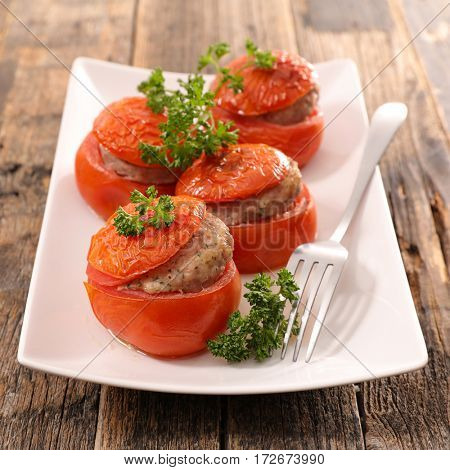 stuffed tomato with meat
