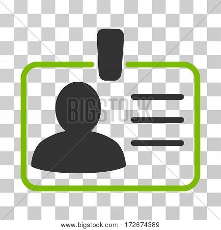 Personal Badge icon. Vector illustration style is flat iconic bicolor symbol eco green and gray colors transparent background. Designed for web and software interfaces.