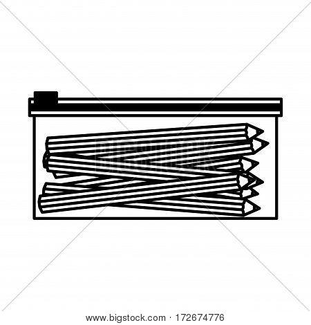 pencil case isolated icon vector illustration design