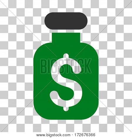 Business Remedy icon. Vector illustration style is flat iconic bicolor symbol green and gray colors transparent background. Designed for web and software interfaces.