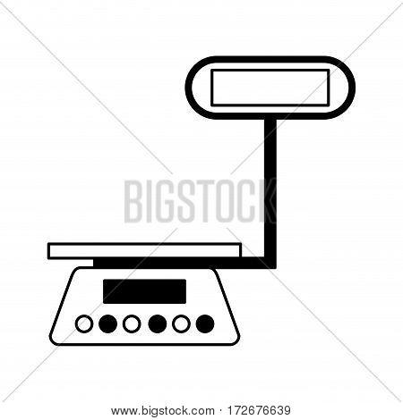 measure weight balance icon vector illustration design