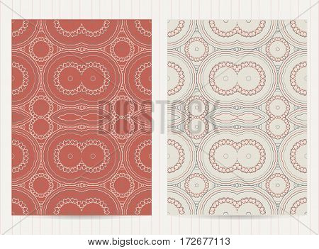 5X7 Inch Size Cards Decorated With Mandala. Vector Template In Eastern, Oriental Style For Restauran