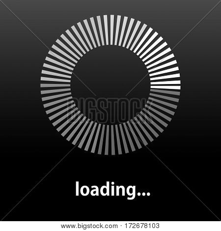 Loading icon. Indicator for loading progress. Vector