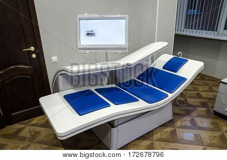 The device is a new generation of magnetic therapy, computer-controlled and comfortable place for the patient