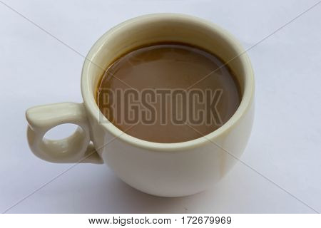 Coffee cup on white background cup of coffee isolated