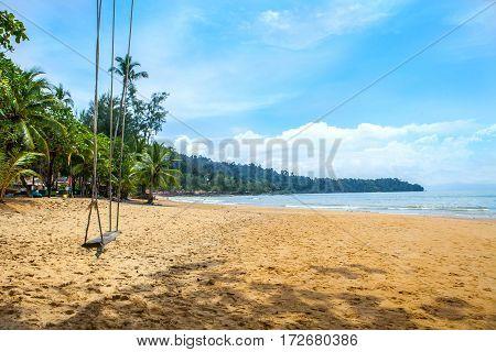 Swing on the beachkhao lak phang nga thailand
