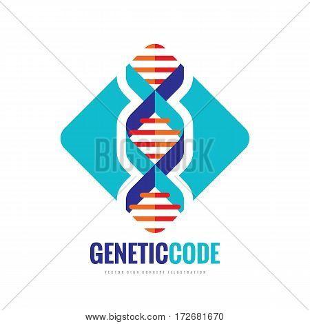 DNA BioTechnology - vector logo template concept illustration. Medical science creative symbol. Human biological genetic code structure. Design element.