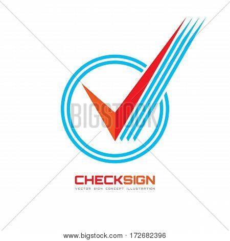 Vector icon of check box - logo template illustration. Universal business sign for answer of yes. Concept symbol.
