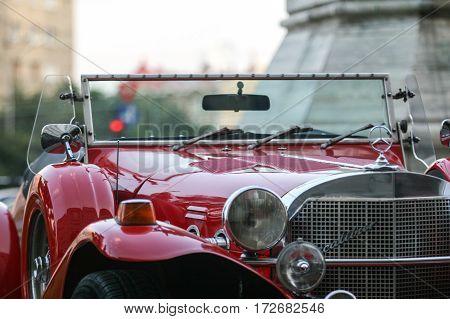 Red Retro Mercedes