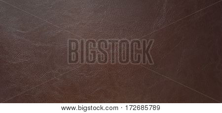 Brown leatherette texture for background, Close up the top view