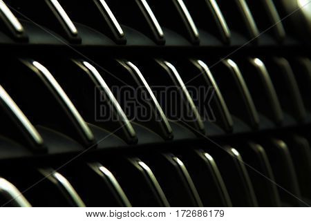 Black abstract background of Front grill of a car