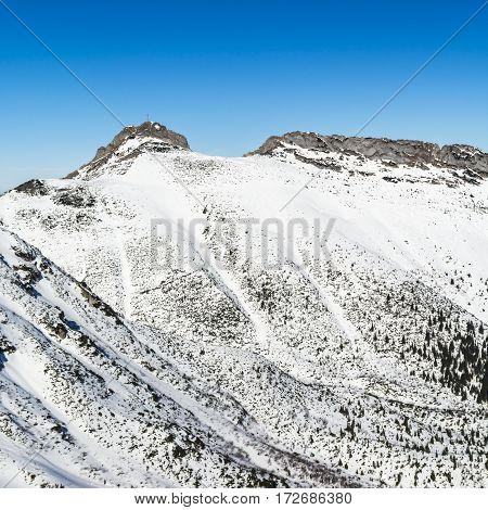 Gullies On The Slopes Falling From The Massif Giewont.