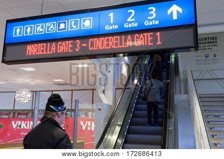 Stokcholm,sweden-october 26 : Passengers Expect Landing To The Ferry In The Building Of The Viking L