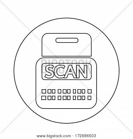 an images of Or pictogram Scan Stock Icon