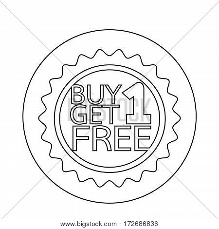 an images of Or pictogram Buy one get one free Icon