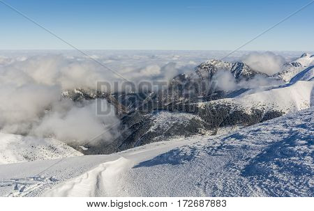 So Called A Sea Of Clouds Over The Valleys.