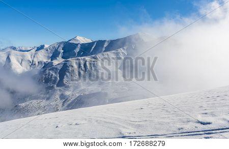 Winter Mountain View.