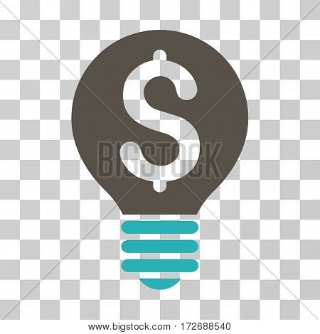 Business Patent Bulb icon. Vector illustration style is flat iconic bicolor symbol grey and cyan colors transparent background. Designed for web and software interfaces.