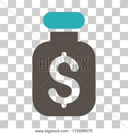 Business Remedy icon. Vector illustration style is flat iconic bicolor symbol grey and cyan colors transparent background. Designed for web and software interfaces.