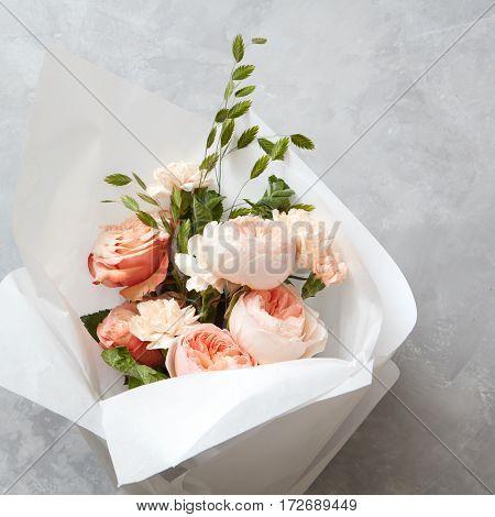 Beautiful peach roses