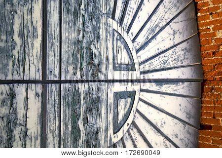 The  Sumirago Rusty   Door Curch  Closed Wood Italy