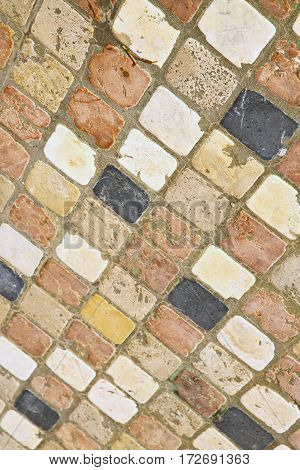 The  Borghi  Street Lombardy Italy      Pavement Of A Curch And Marble