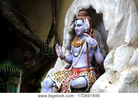Statue of Hindu Lord Shiva, Rishikesh, India