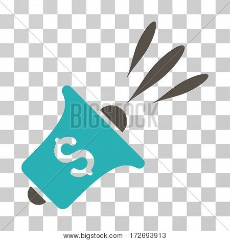 Financial News Rupor icon. Vector illustration style is flat iconic bicolor symbol grey and cyan colors transparent background. Designed for web and software interfaces.