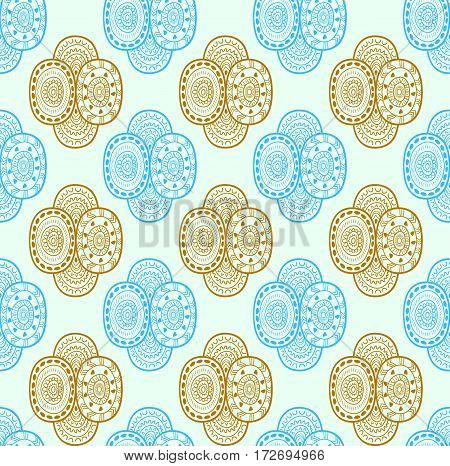 Ethnic textile decorative native ornamental seamless pattern in vector. Abstract seamless pattern. Endless ornate background