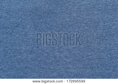 background and texture of blue color of soft knitted fabric of big resolution