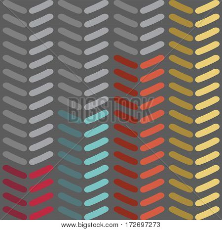 Seamless vector chevron pattern. Fashion zigzag pattern in retro colors, seamless vector background