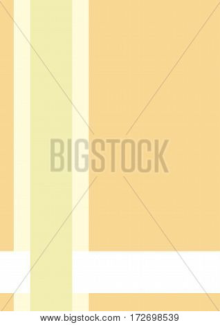 Business cover. Typographical vector design A4. Vertical rectangular. Simple geometric style Light yellow and green lines on aotange background