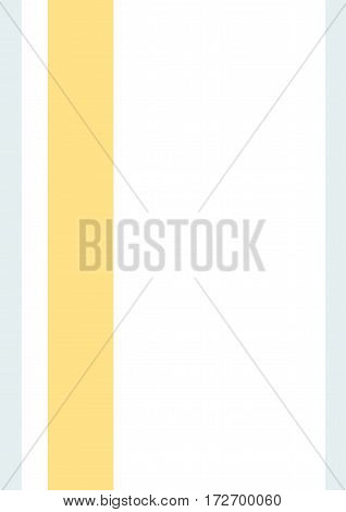 Business cover. Typographical vector design A4. Vertical rectangular. Simple geometric style Light blue and orange lines on a white background