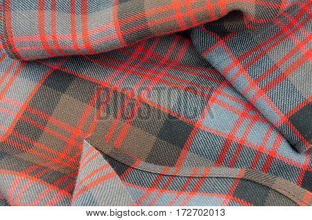 Traditional Scottish MacDonald clan pattern tartan wool fabric