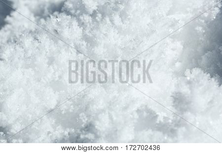 close up beautiful white  frost snowflake background