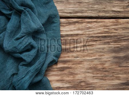 Napkin On A Old Wooden Table