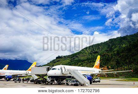 Paro Airport In Thimphu, Bhutan