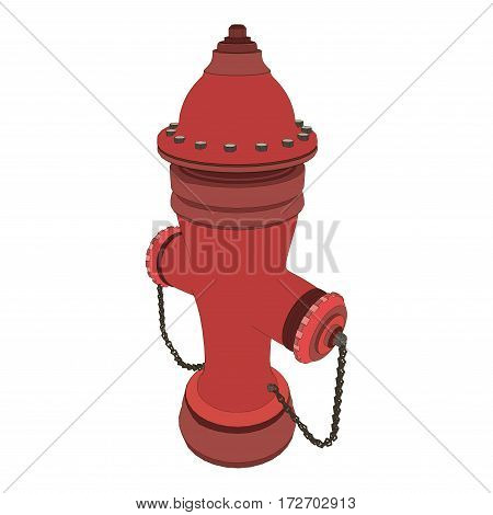 Red fire hydrant isolated on white vector.