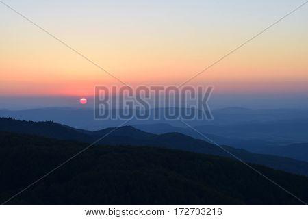 sunset at viewpoint Galyatet