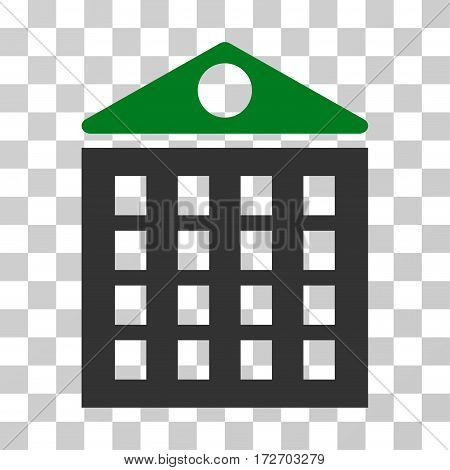 Multi-Storey House icon. Vector illustration style is flat iconic bicolor symbol green and gray colors transparent background. Designed for web and software interfaces.