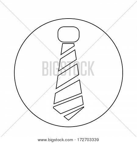 an images of Or pictogram necktie icon