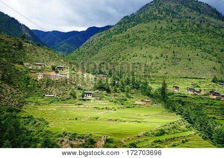 Mountain Scenery In Thimphu, Bhutan