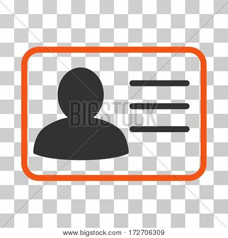 Account Card icon. Vector illustration style is flat iconic bicolor symbol orange and gray colors transparent background. Designed for web and software interfaces.