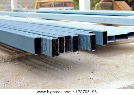 blue square pipe Carbon steel square tube