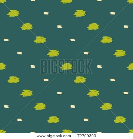 Abstract vector background. Brush stroke seamless pattern. Polka dot. Digital or wrapping paper.