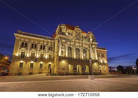 ORADEA, ROMANIA - CIRCA 2016: Oradea City Hall