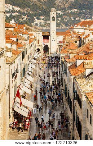 DUBROVNIK, CROATIA - CIRCA 2015: Dubrovnik Old Town, Croatia