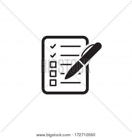 Check List Icon. Business Concept. Flat Design. Isolated Illustration.