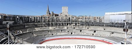 The Amphithater Of Arles On France