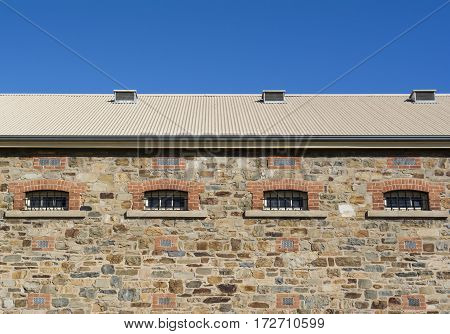 Side Upper Portion Of The New Building, Adelaide Gaol